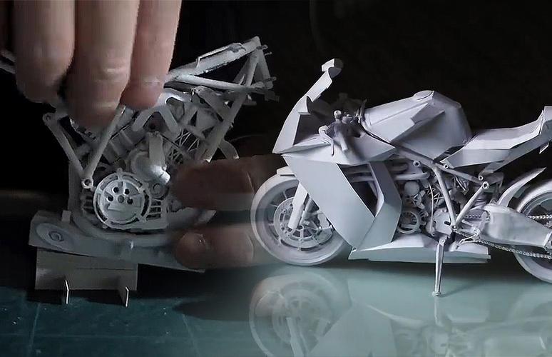Làm siêu xe KTM RC8 1190 từ giấy cực đẹp và chi tiết