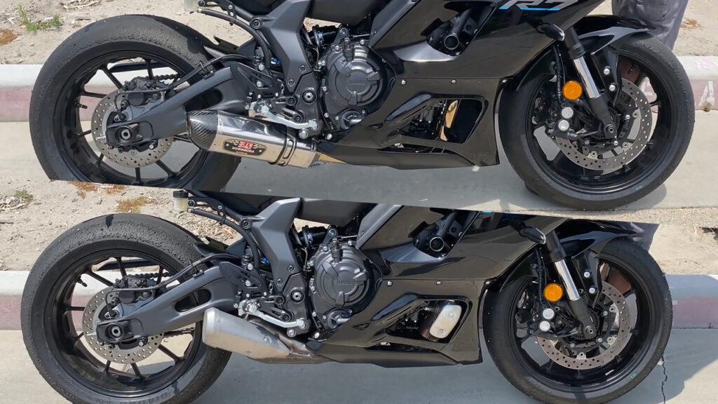 So sánh âm thanh pô zin và pô độ trên Yamaha R7